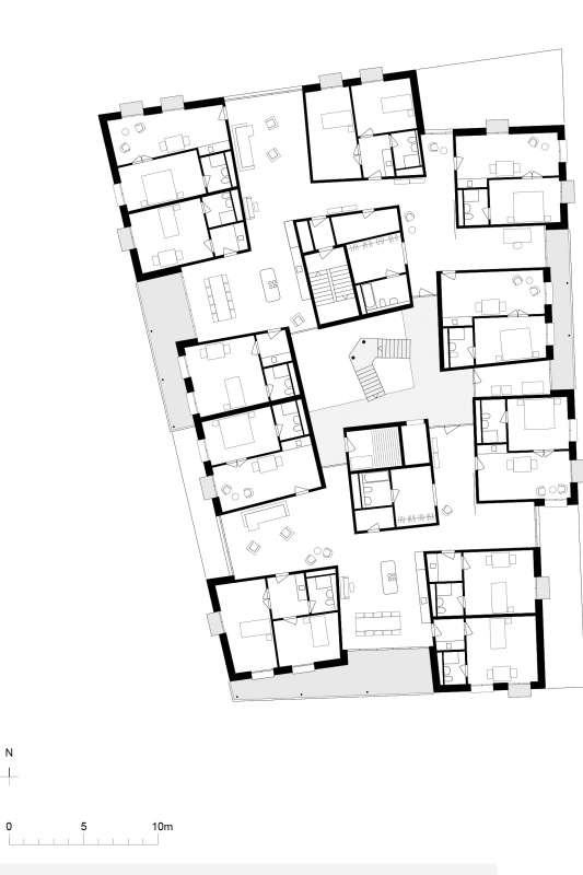 Plan, Cluster Housing at House A.