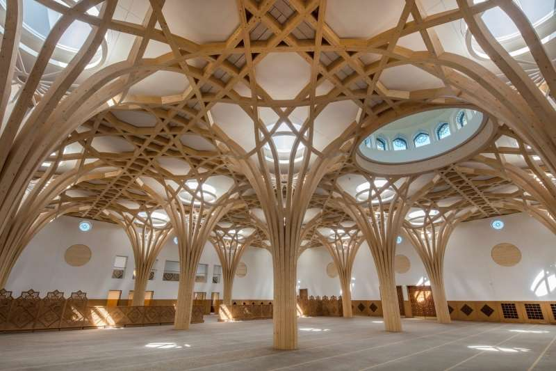 Cambridge Central Mosque, Marks Barfield Architects