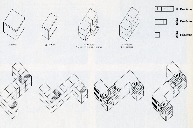 Tegning af Le Corbusier